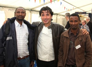 Jarso and Abiyot with Jean-Christophe Novelli