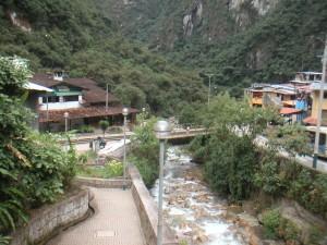 View of Machu Picchu Pueblo
